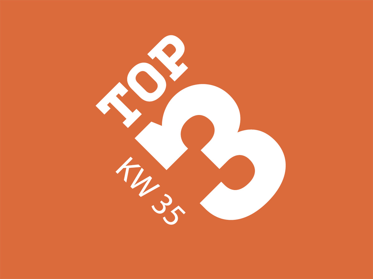 Top3 KW 35 von Socialgastro in Bezug auf Themen der Gastro- Branche