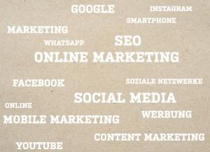 Socialgastro zeigt in diesem Bild die Themenschwerpunkte auf wie z.B. Online Marketing, SEO, Social Media usw.